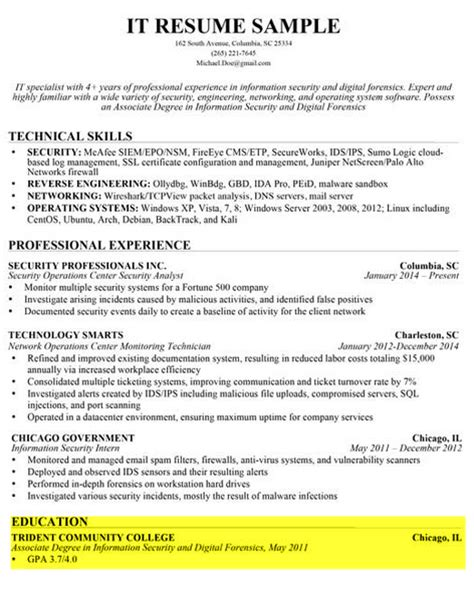 Resume Sample With Gpa by How To Write A Great Resume The Complete Guide Resume Genius