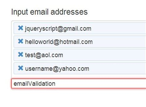 Email Address Free Jquery Plugin For Email Address Management Emails Free Jquery Plugins