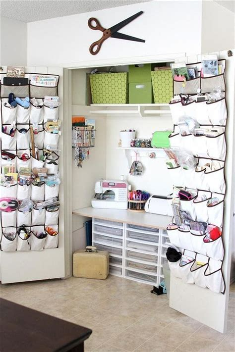 Closet Sewing Room by Sewing Closet Creative Spaces