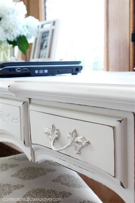 diy chalk paint with behr provincial desk makeover confessions of a serial