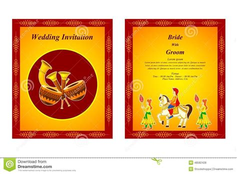 hindu wedding ceremony explanation cards design templates indian wedding invitation card stock vector illustration