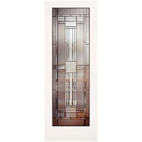 interior glass doors home depot feather river patina glass interior slab door at