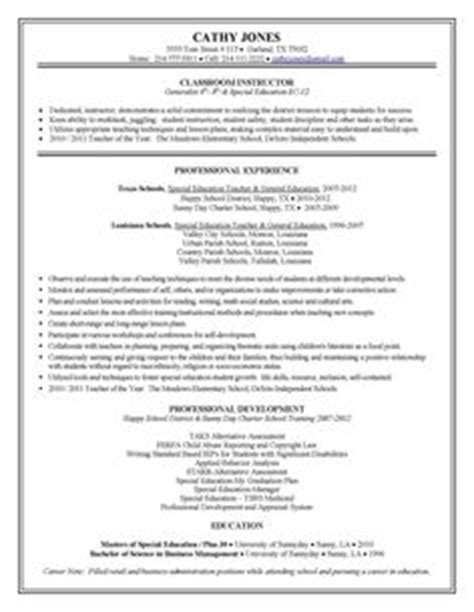 exle of a special ed resume special education assistant resume exles