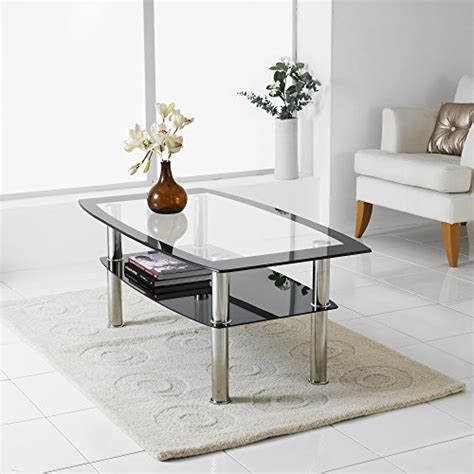 neotechs 174 modern black clear glass chrome living room