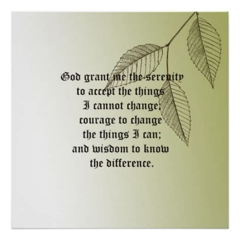 printable version of the serenity prayer serenity prayer print zazzle