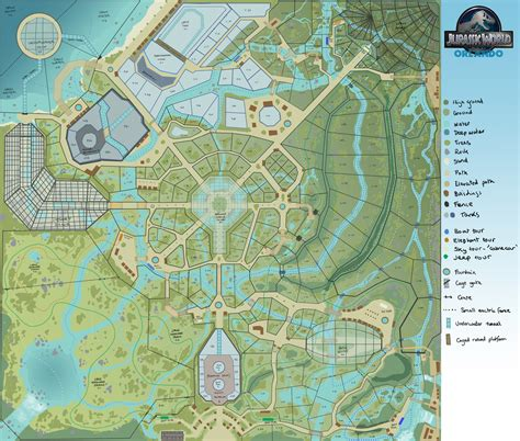 jurassic park map jurassic world orlando map by joshuadunlop on deviantart