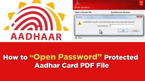 how to make aadhar card how to open aadhar card pdf file what is the password to