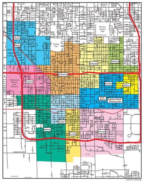 district map of elementary school district 1 map