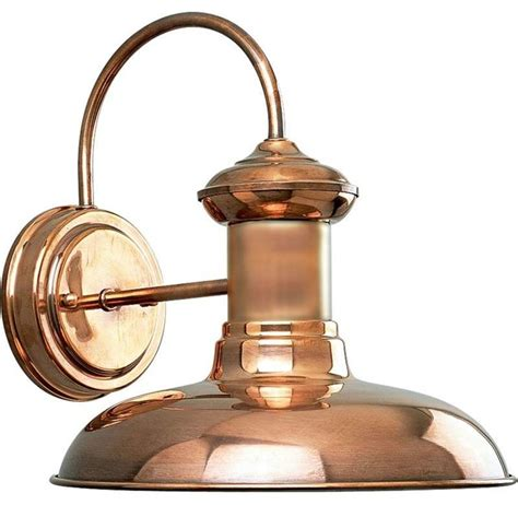 Copper Outdoor Lights Progress Lighting Brookside 1 Light Outdoor Wall Light Copper Traditional Outdoor Wall