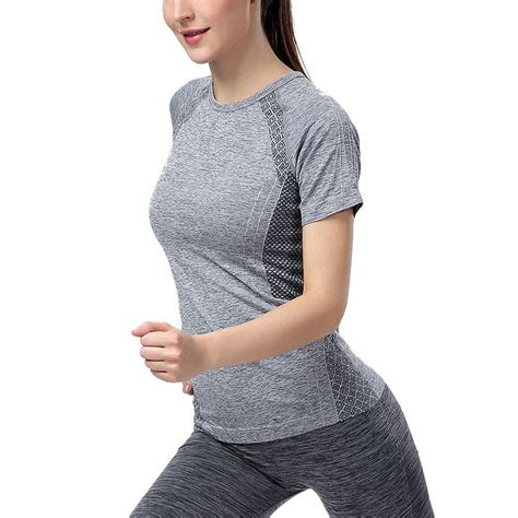 pantyhose tops sleeved women sports breathable dry quick sports tops short sleeve
