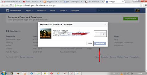 cara membuat blog aplikasi cara membuat mendaftar aplikasi facebook untuk persiapan