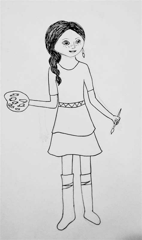 coloring pages american girl grace girl with doll coloring page az coloring pages