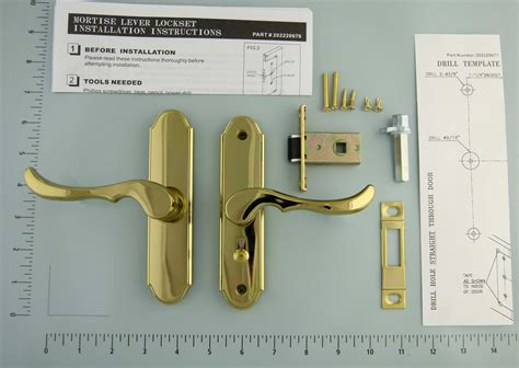 larson door handle template part 20275207 color brass