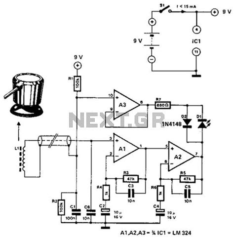 inductor schematic linear inductance meter circuit schematic