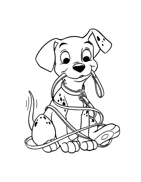 102 Dalmatians Coloring Pages Dalmatian Coloring Page