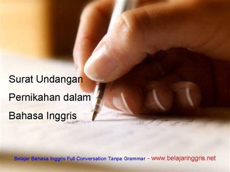 surat undangan pernikahan dalam bahasa inggris beserta