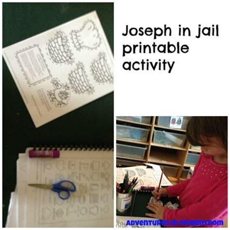 printable games for jail joseph in jail activities