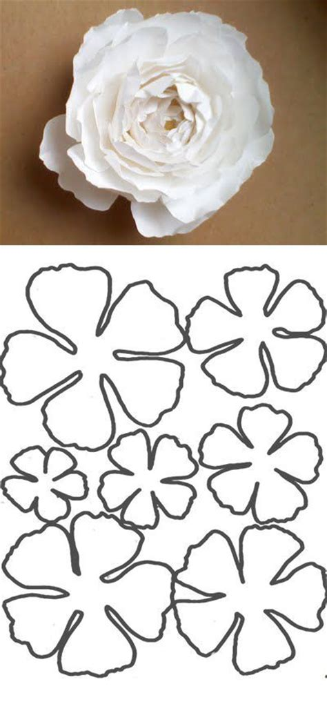 crepe paper template 11 best photos of paper flowers template paper