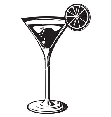 martini vector cocktail glass with lemon vector by tribaliumvs image