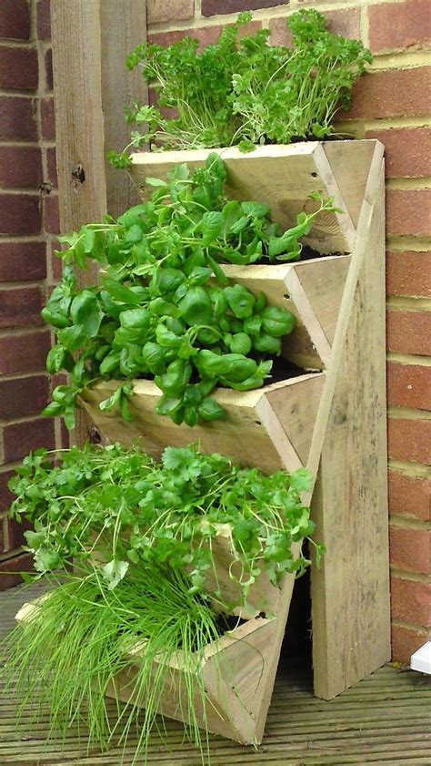 herb planter innovative herb outdoor garden planters offer light wooden vertical planter ideas lean back