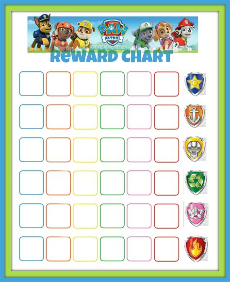 printable reward charts for sleeping paw patrol reward chart might try to get jack to