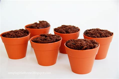 Flower Pots Simple Flower Pot Cupcakes