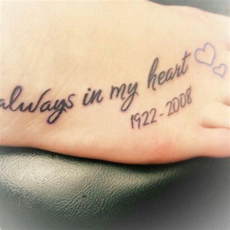 remembrance tattoos for grandma de 25 bedste id 233 er inden for rip p 229