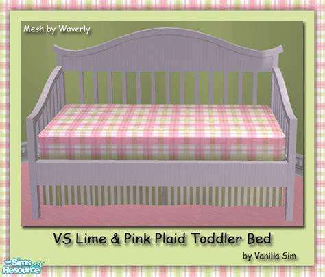 Vanilla Sim S Vs Lime Pink Plaid Toddler Bed Toddler Bed Vs Bed