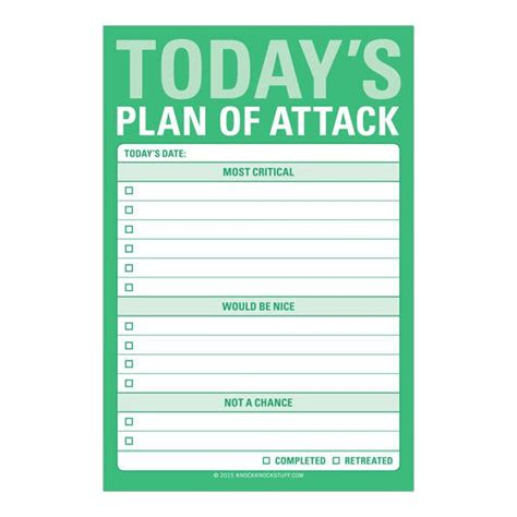 today s plan of attack great big sticky notes