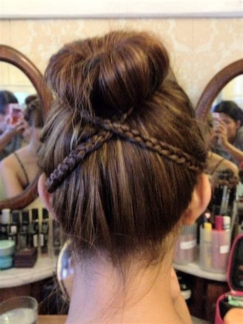 put your hair in a bun with braids 10 best images about dance hairstyles on pinterest my