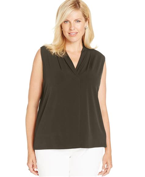 Dress Hodie New York jones new york collection plus size sleeveless top in green lyst