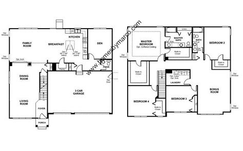 homes by marco floor plans primrose model in the providence subdivision in elgin