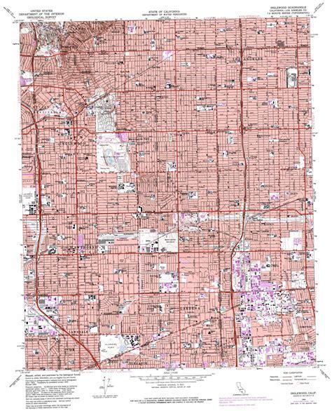 inglewood california map inglewood topographic map ca usgs topo 33118h3