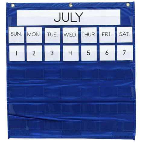 Calendar Pocket Chart Pacon Monthly Calendar Pocket Chart Blue 1 Each