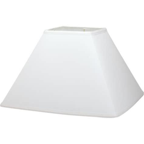 white square l shade square hardback linen l shade 7 x 17 x 12 quot white pack