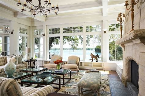 new home interior design lakefront cottage lake house living room decorating ideas cornelius today