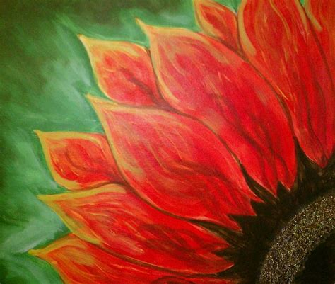 acrylic painting easy flower paint flowers and in acrylic paint on canvas with