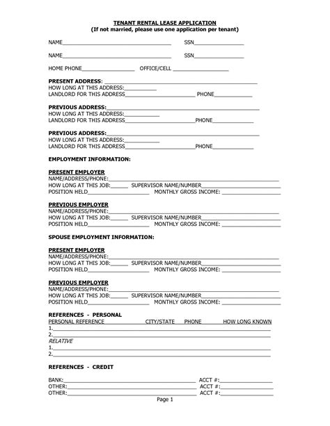 free printable landlord tenant rental lease agreement