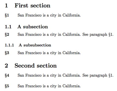 how to write sections and subsections in law sectioning how can i number paragraphs without higher