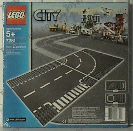 Promo Lego 7281 City Supplemental T Junction Curved Road lego 7281 t junction and curved road plates set parts