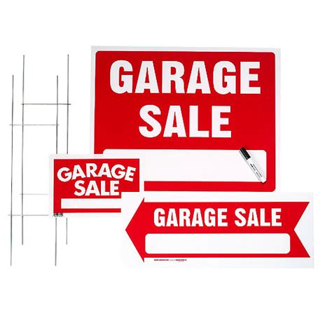 Garage Sales Delaware Garage Sale 3 Sign Kit Rona