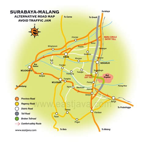 alternatif traffic map  surabaya  malang