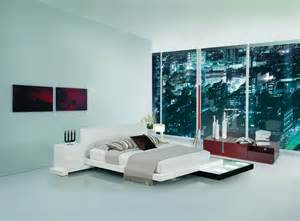 platform bed with lights galaxy contemporary style