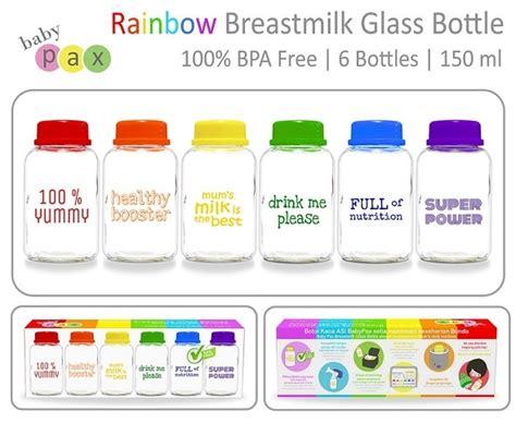 Botol Asi Yang Bagus jual babypax rainbow botol asi kaca rekomen mungsiji