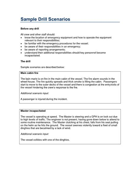 emergency drill report template best photos of exles of drills drill report