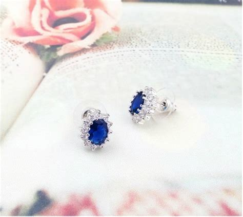 Kalung Kalung Pesta Water Drop Kn00614 princess same paragraph sapphire earrings anting wanita blue jakartanotebook
