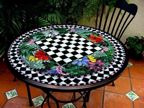 Design For Mosaic Patio Table Ideas Chess Table Mosaic Ideas Pinterest Chess Table Chess And Mosaics