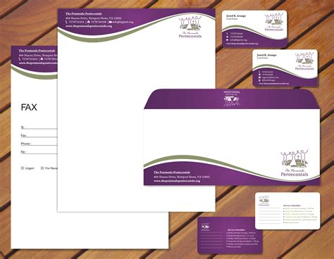 business card letterhead envelope template church letterhead creating an effective church letterhead
