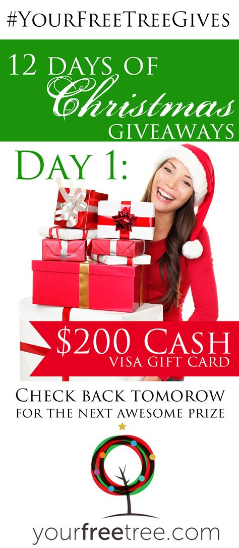 Free Christmas Money Giveaways - yourfreetree com 12 days of christmas giveaway brenda bird