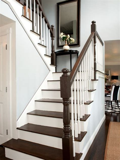 wood stair case dark wood stairs houzz